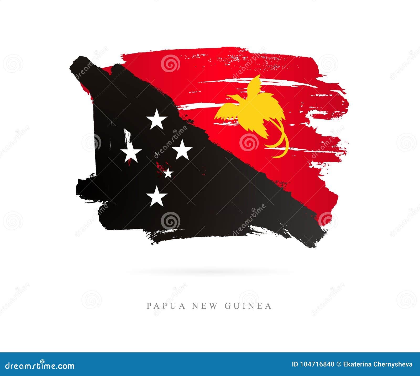 Flagge Von Papua-Neu-Guinea Abstrakter Begriff Vektor Abbildung ...
