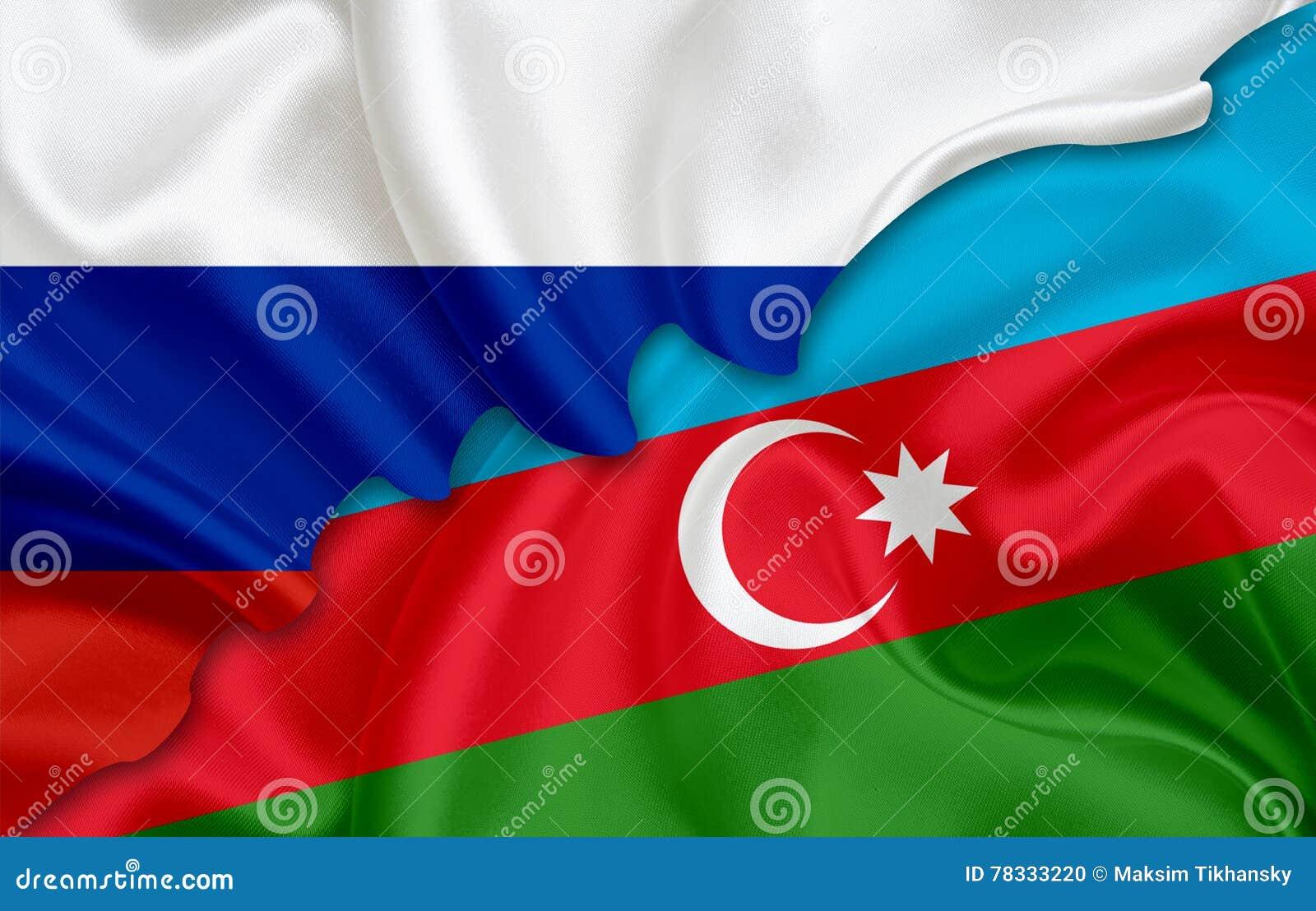 Flagge Von Russland Und Flagge Von Aserbaidschan Stock Abbildung Illustration Von Aserbaidschan Flagge 78333220