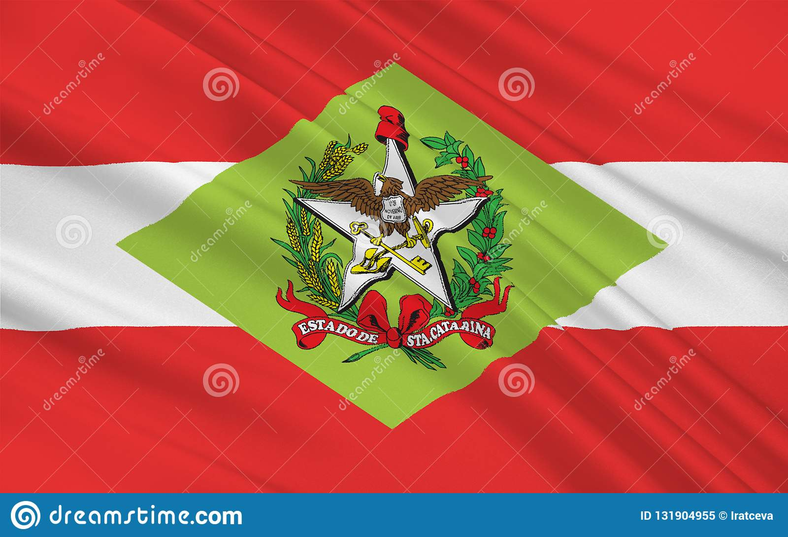 Flagge von Santa Catarina, Brasilien