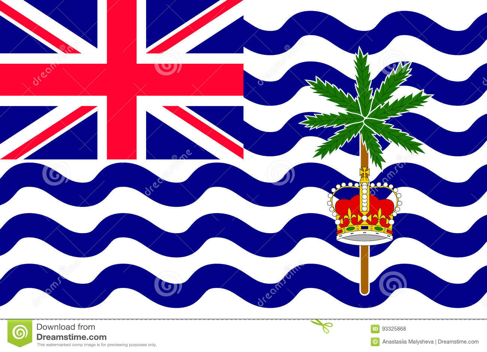 Flaggen-Britisch-Indien-Ozean-Gebiet Vektor Abbildung - Illustration ...