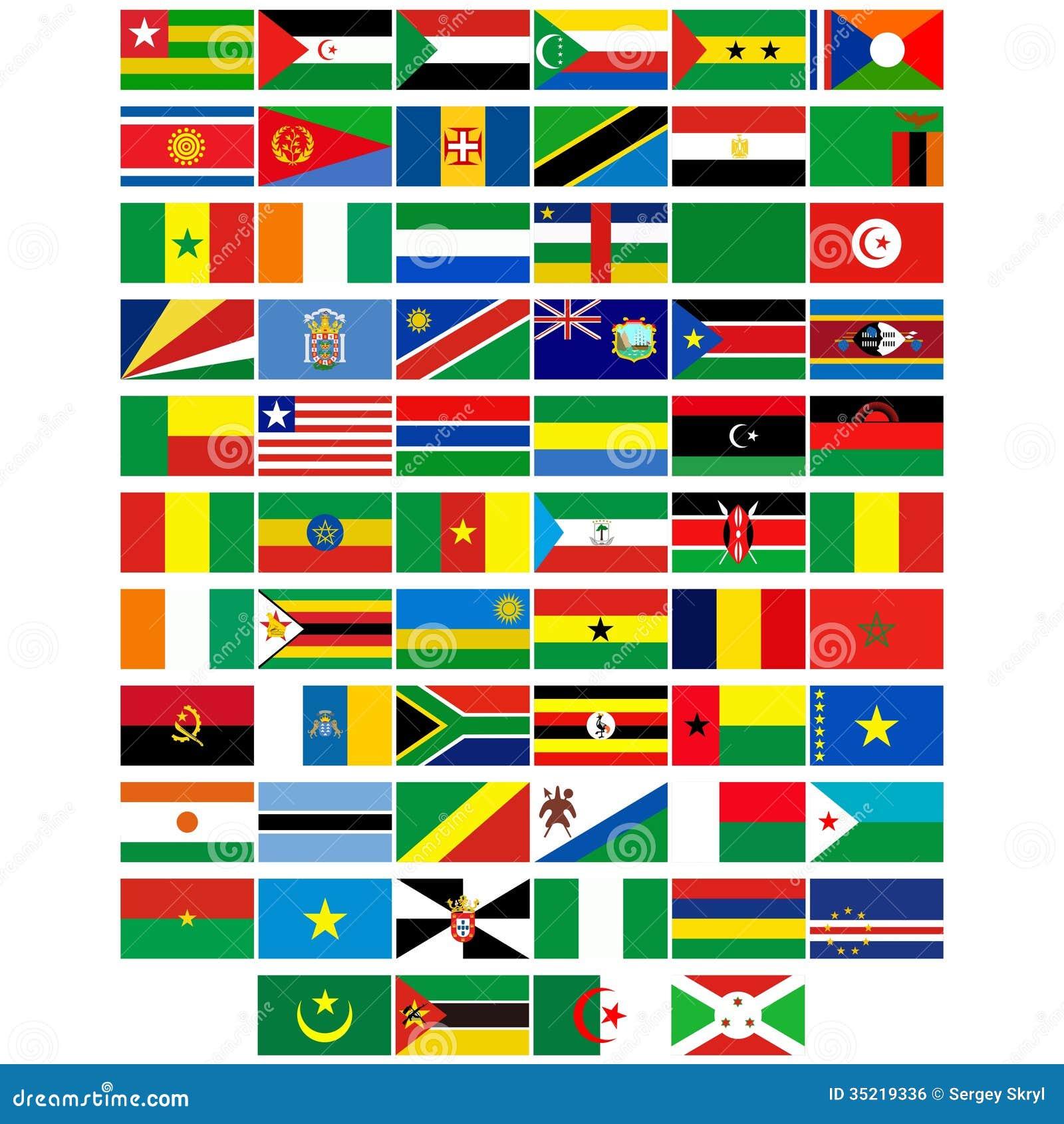 Flaggen Der Länder Von Afrika Vektor Abbildung
