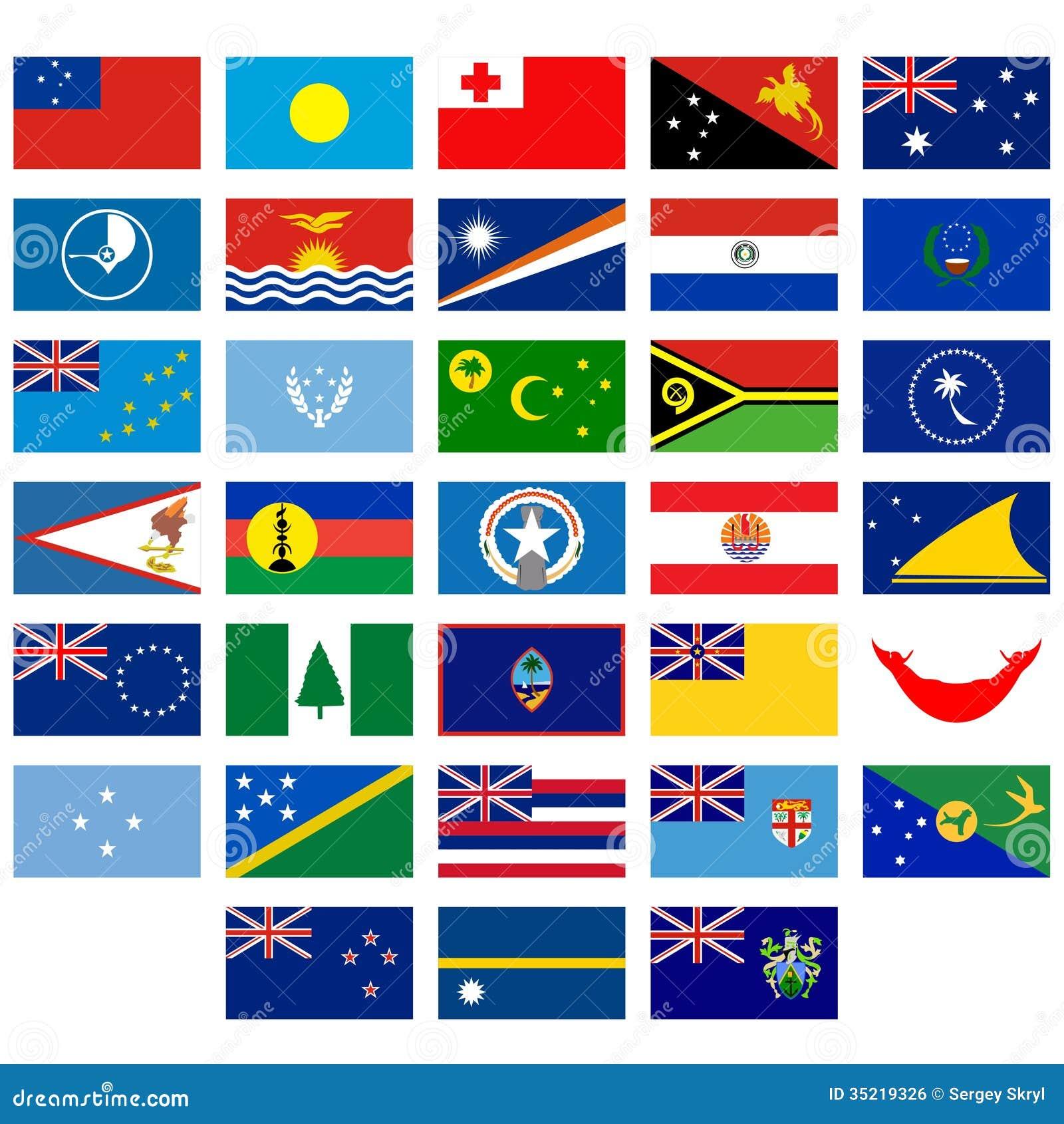Flaggen Von Australien Und Von Ozeanien Vektor Abbildung