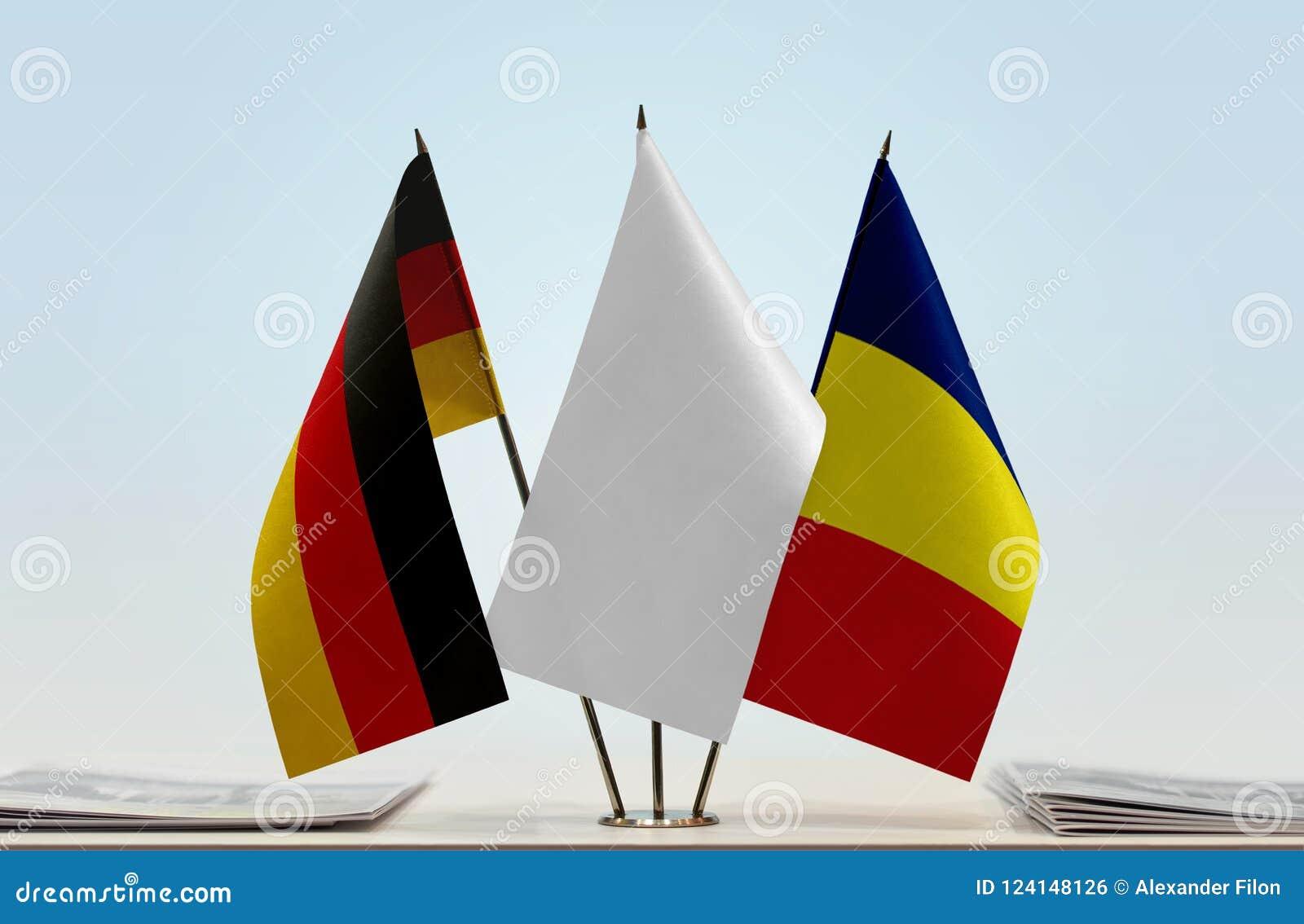 Flaggen von Deutschland und von Tschad