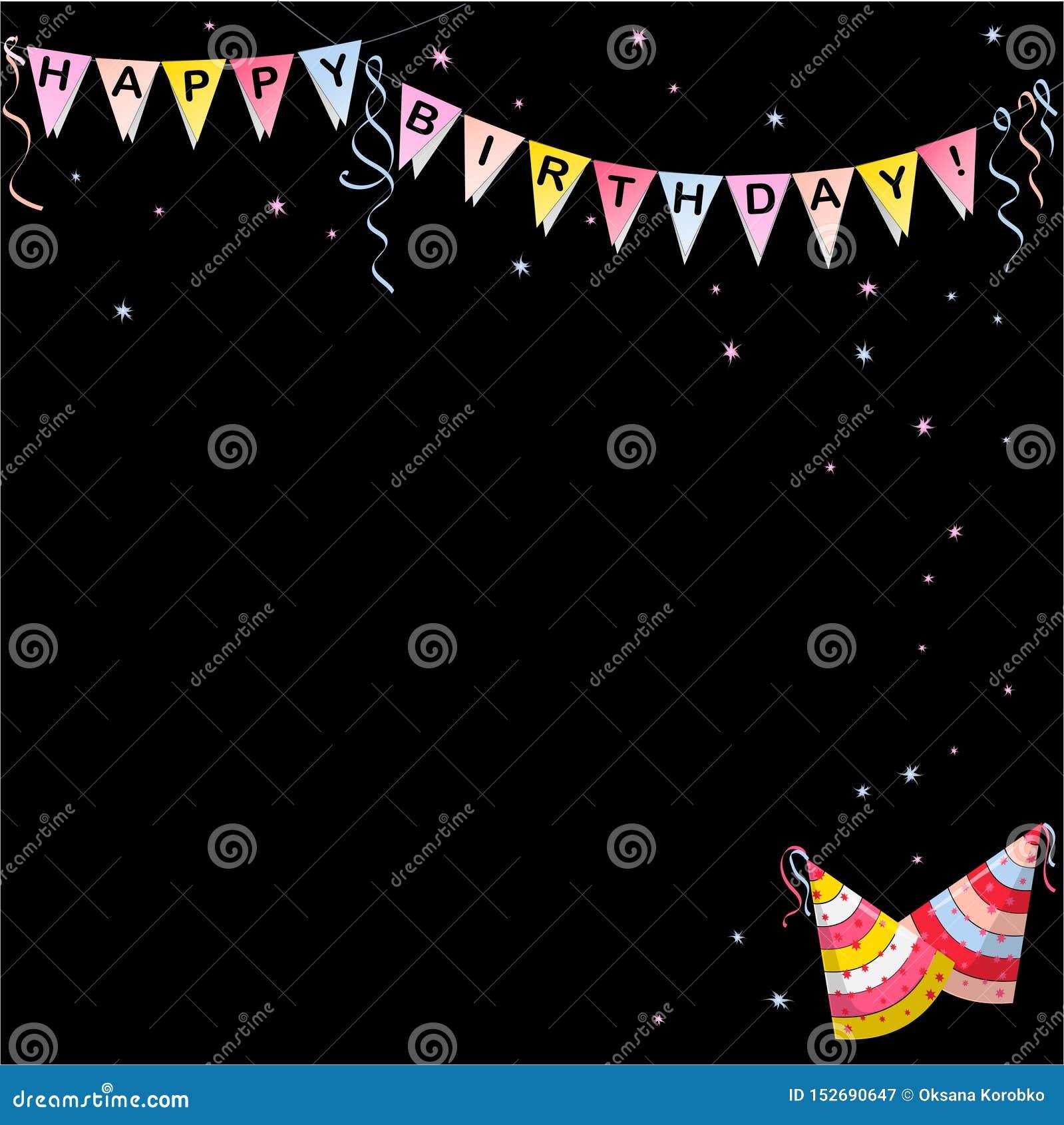 Flaggenfahne mit alles- Gute zum Geburtstagbuchstabefarbe