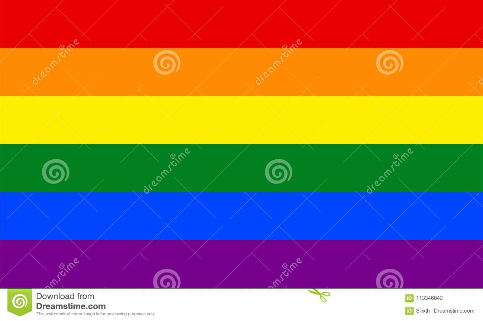 Flaggenhintergrund-Fahnenvektor LGBT-Stolzes bunter