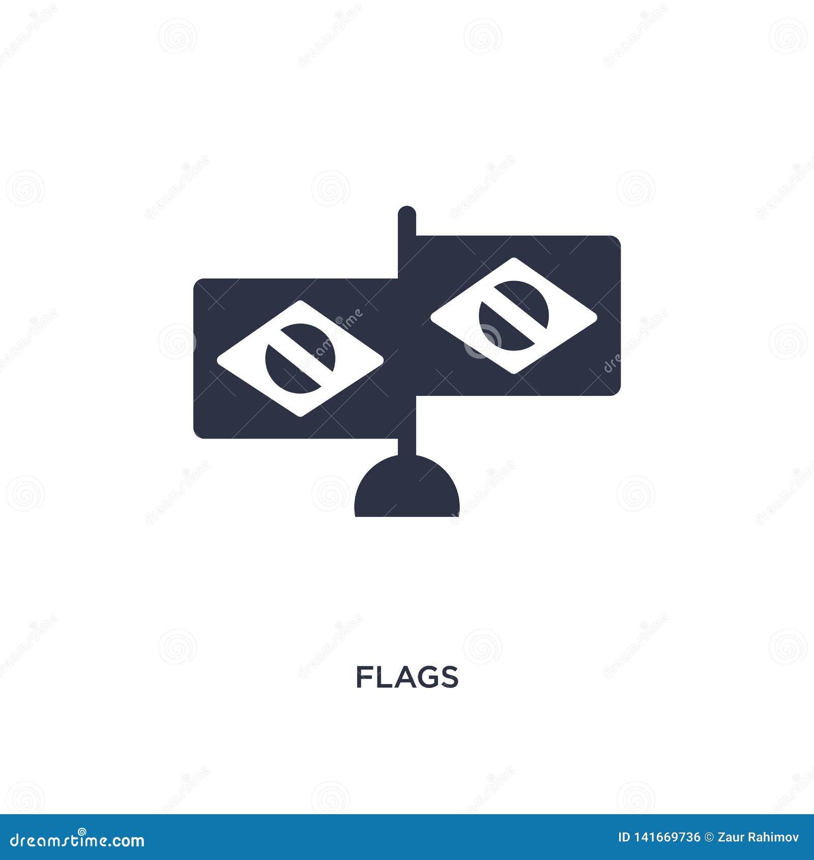 Flaggenikone auf weißem Hintergrund Einfache Elementillustration von brazilia Konzept