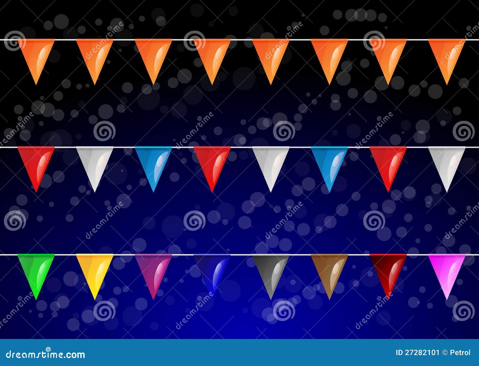 Flaggor för vektorcelebrationaldeltagare