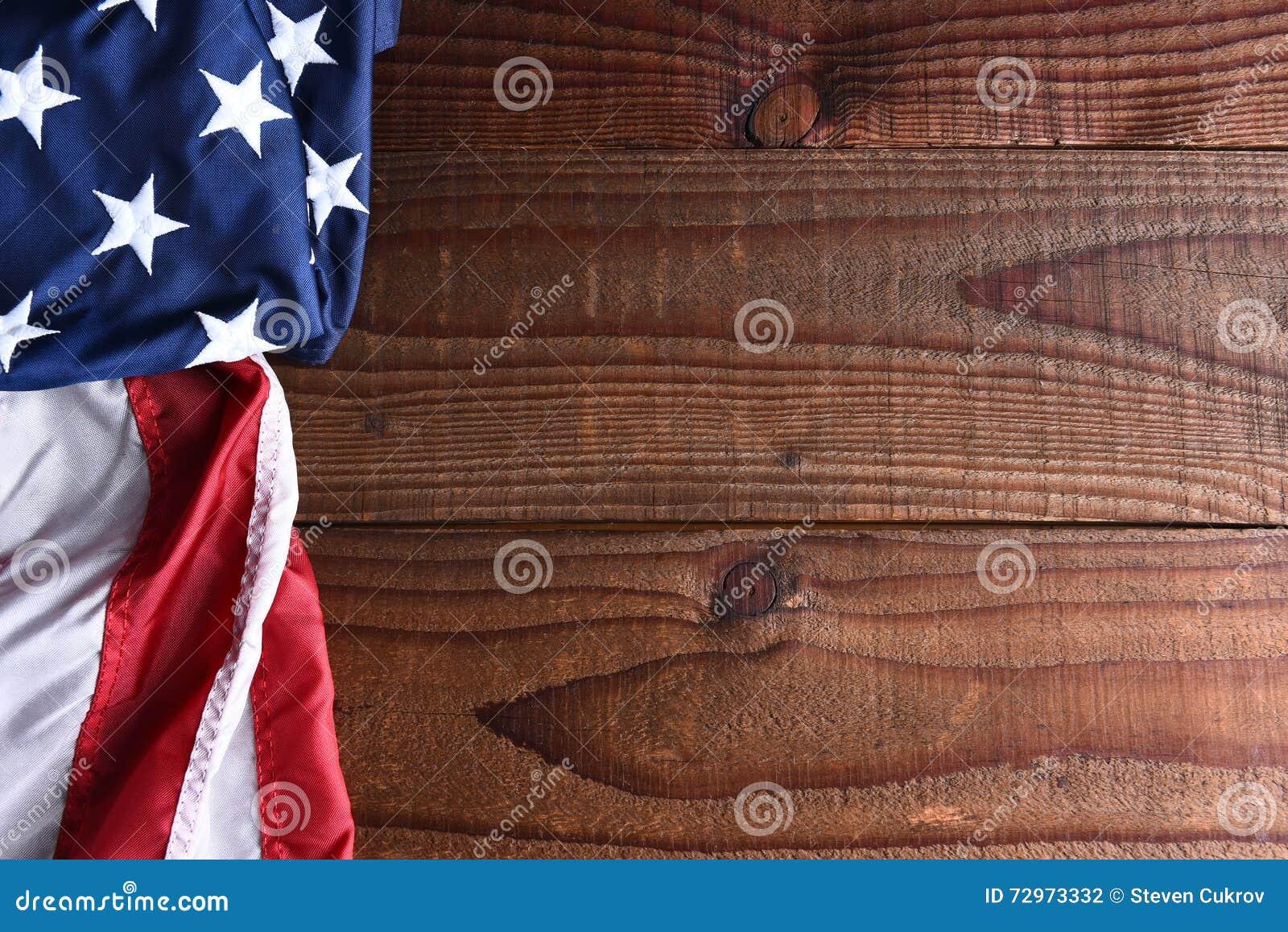 Flagi amerykańskiej drewna