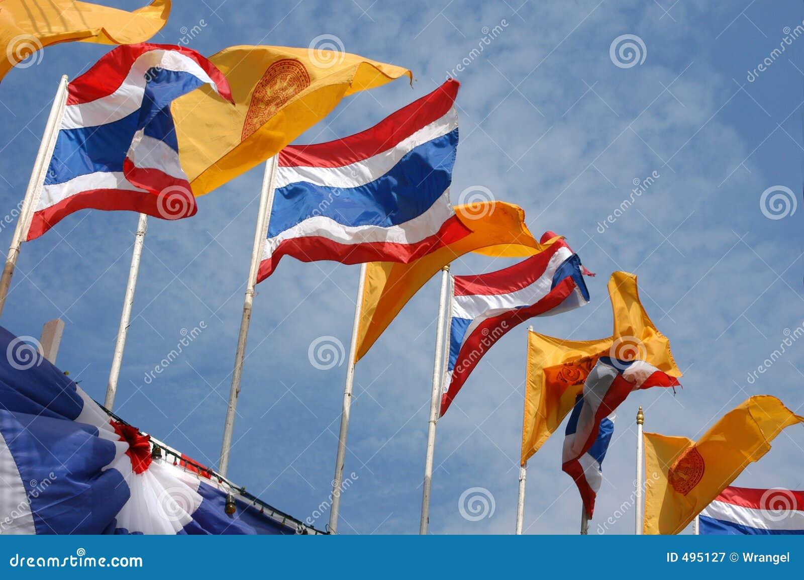 Flags национальное королевское тайское