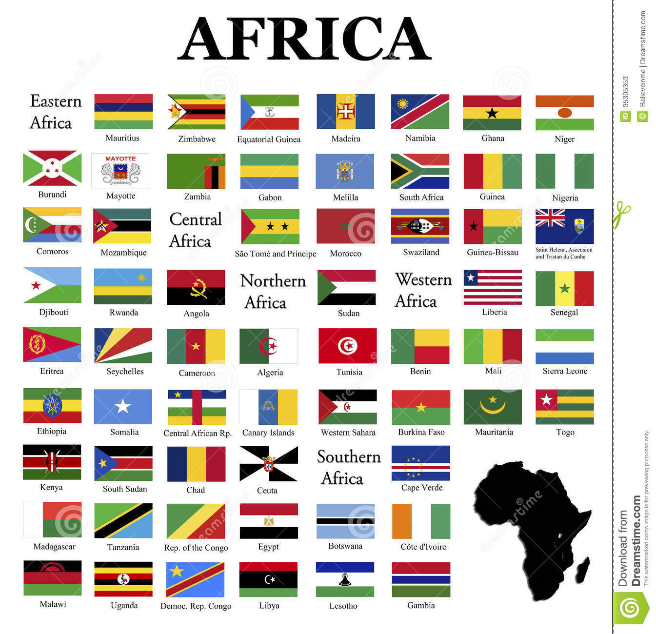 all country flags in the world