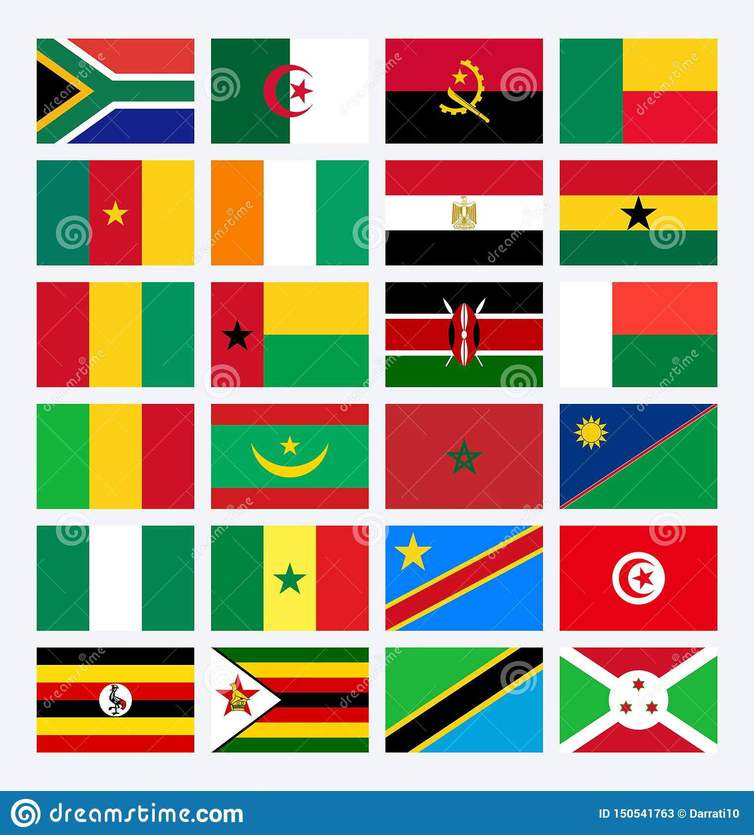 Flags Africa Countries African Cup Egypt Stock Vector Illustration Of Egypt Flags 150541763