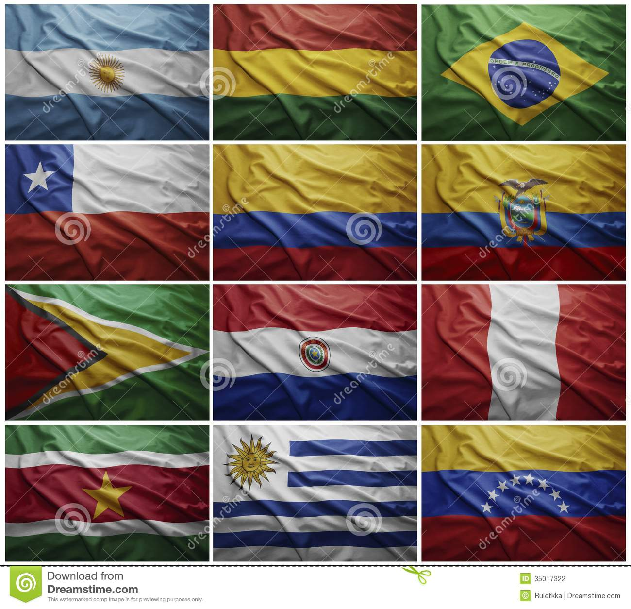 Latin American Flags Collage 39