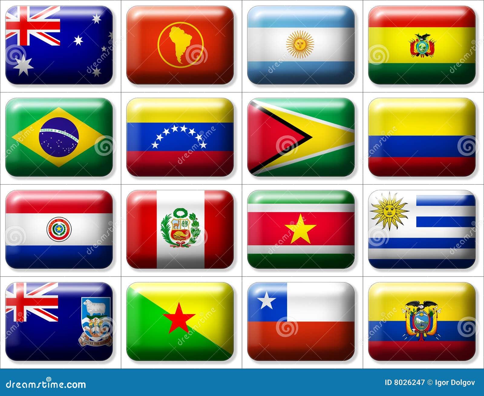 Flags of Australia & South America