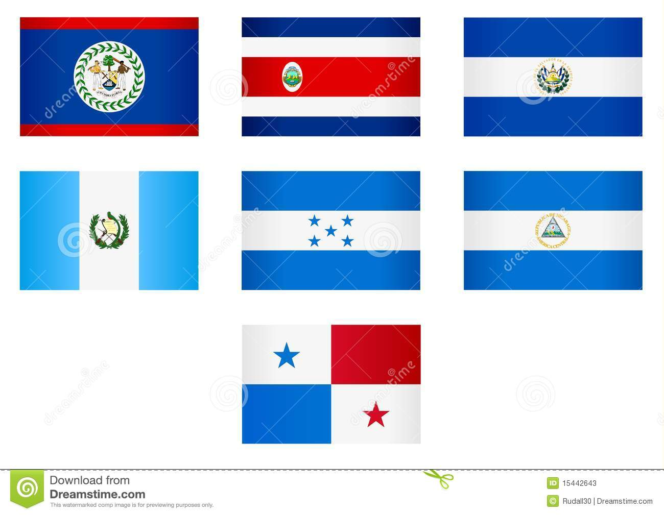 flags central america stock vector illustration of banner 15442643