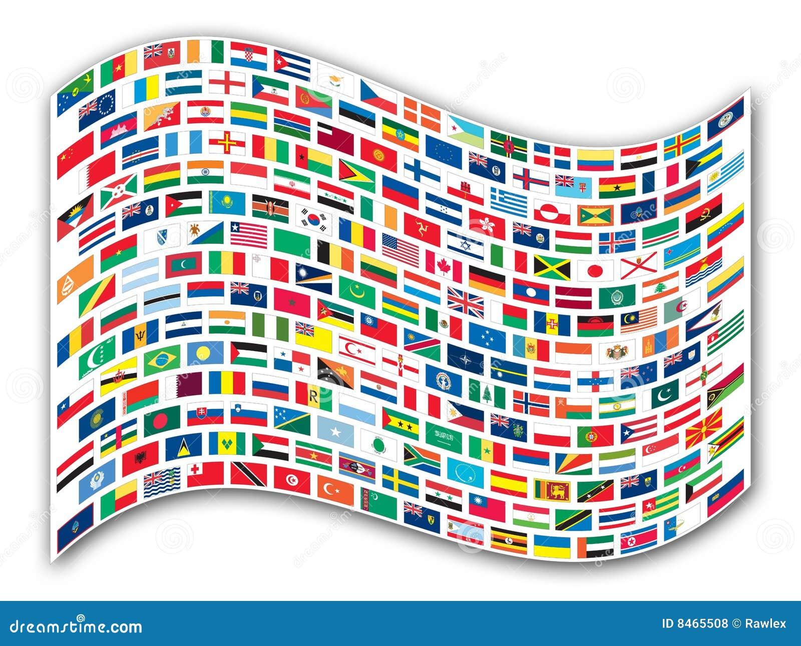 Flags den wavy världen