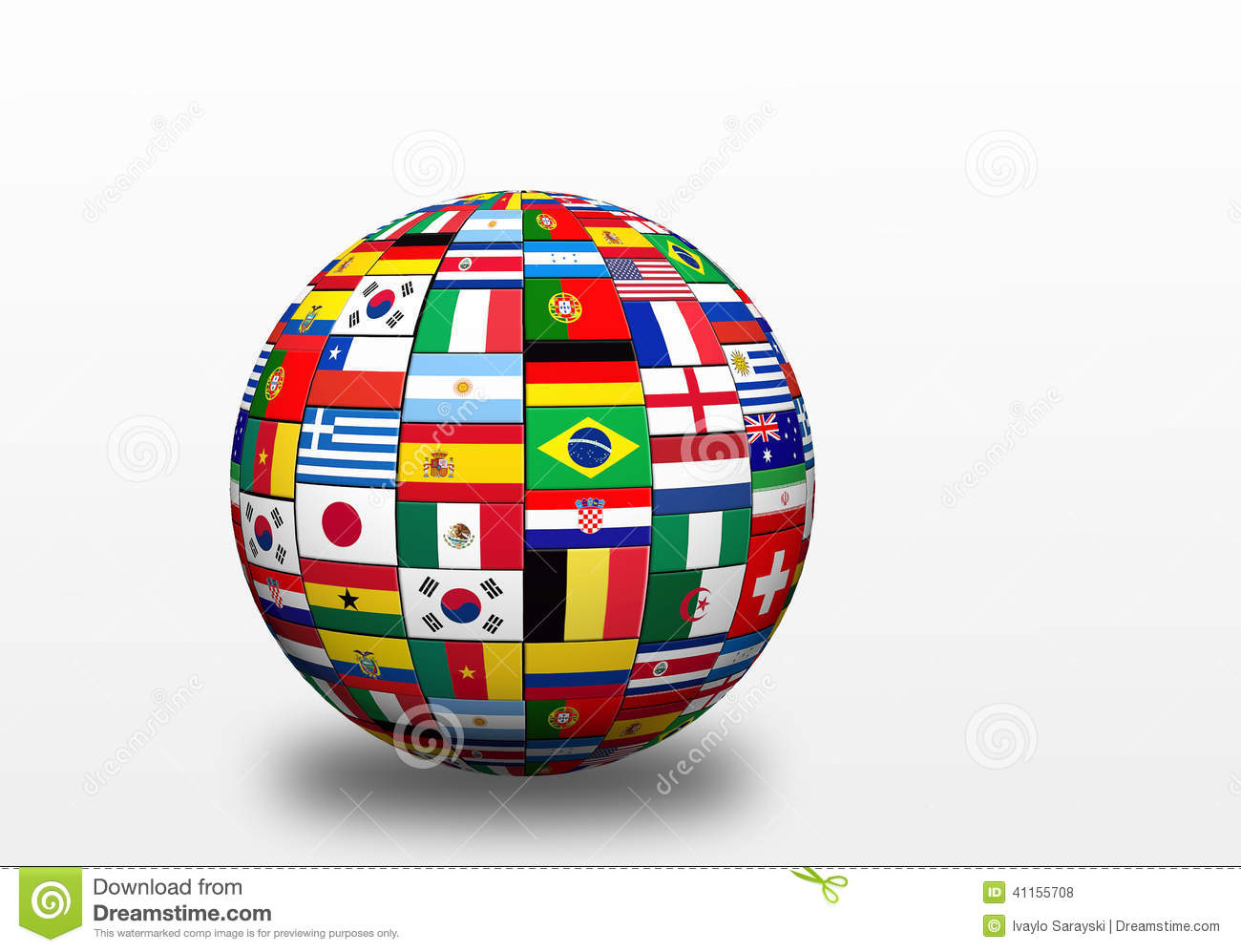 Flags Of Finalists On World Cup In Brazil 2014 Stock ...