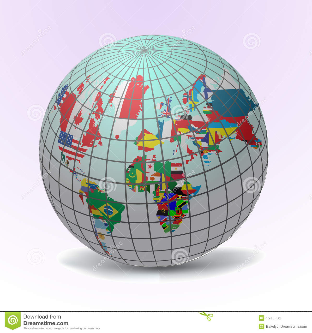 Flags globe with world map stock vector illustration of england flags globe with world map royalty free stock photo gumiabroncs Choice Image