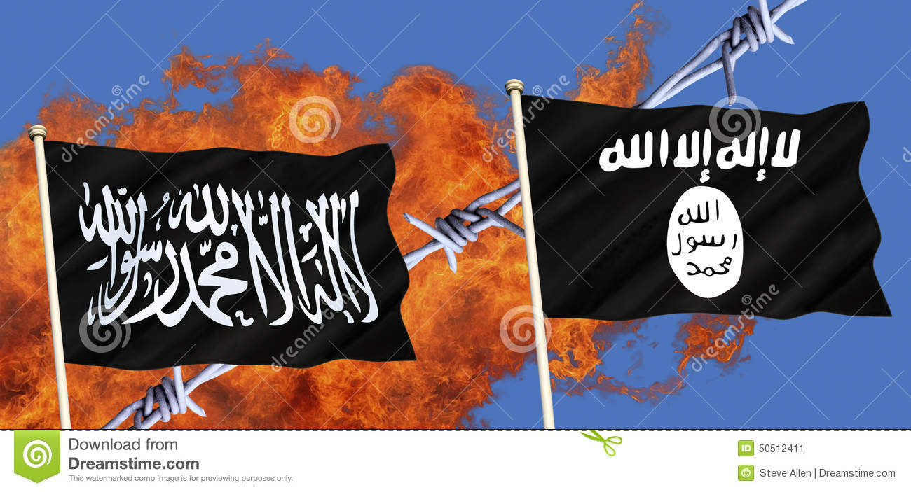 Stock Image: Flags of Islamic State - ISIS - ISIL - Al ...