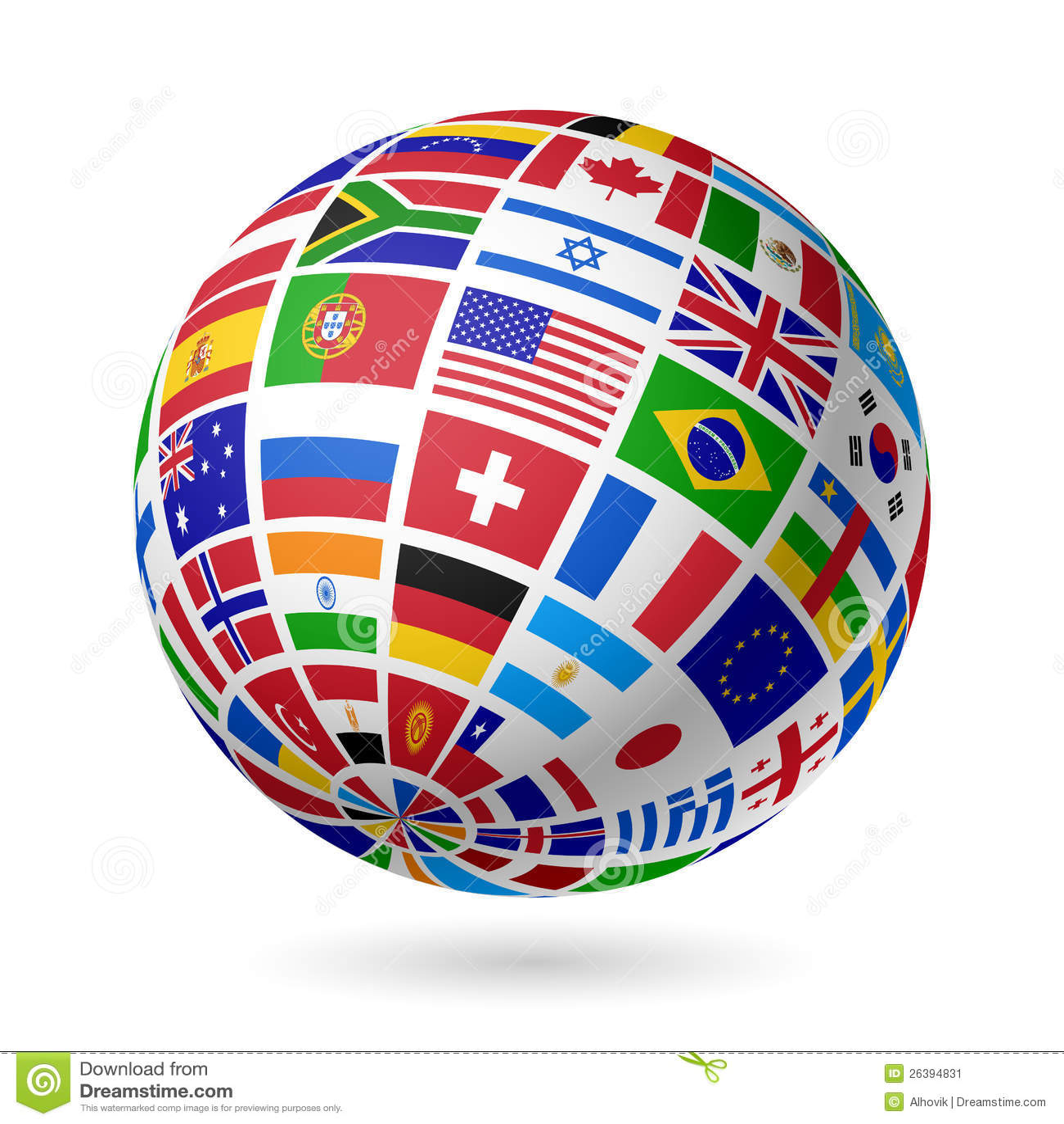 Flags jordklotet