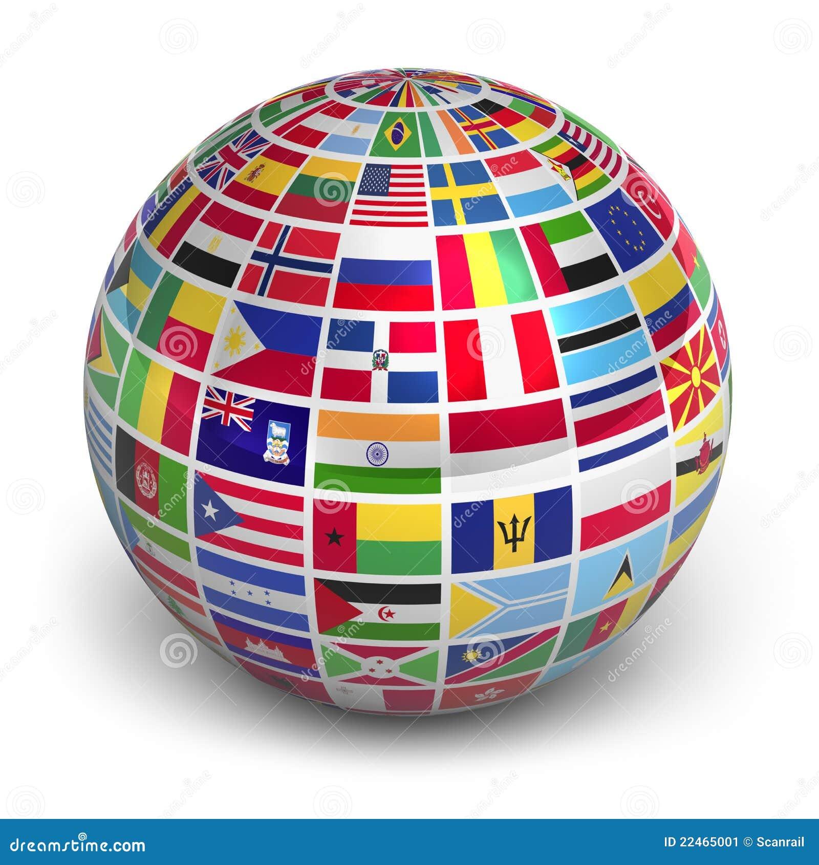 Flags jordklotvärlden
