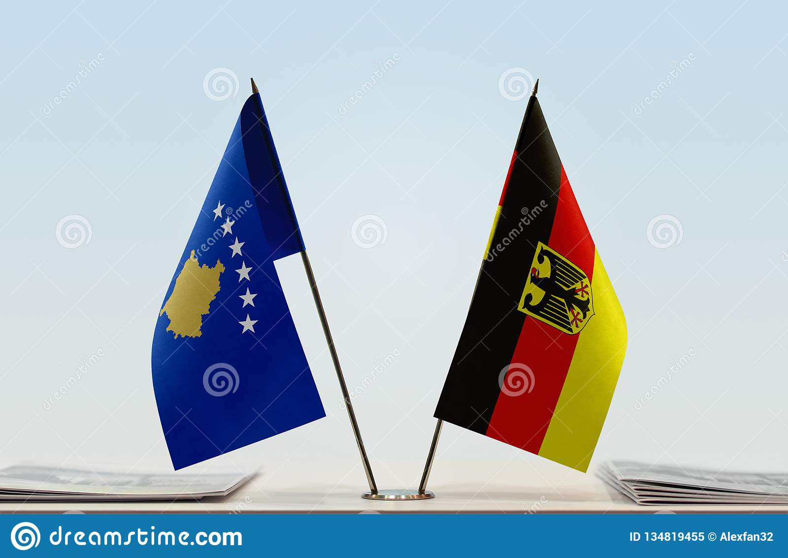 Flags of Kosovo and Germany