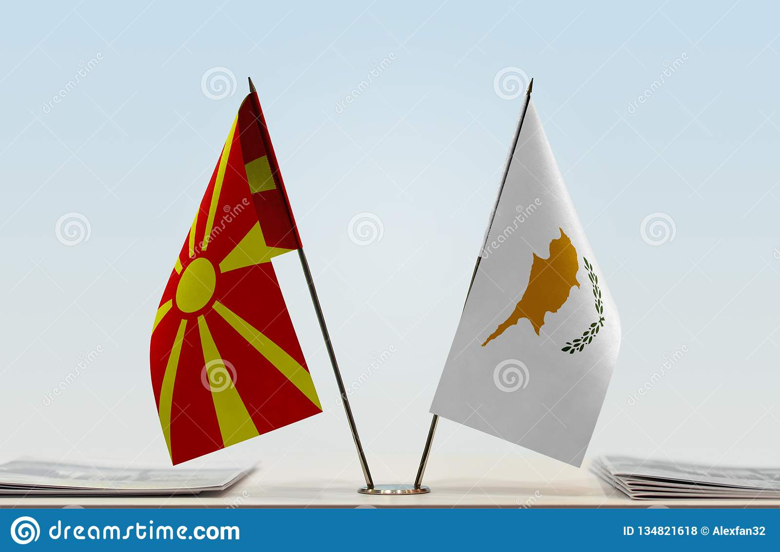 Flags of Macedonia and Cyprus