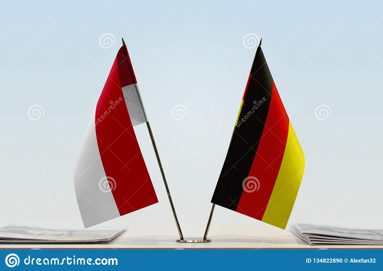 Flags of Monaco and Germany