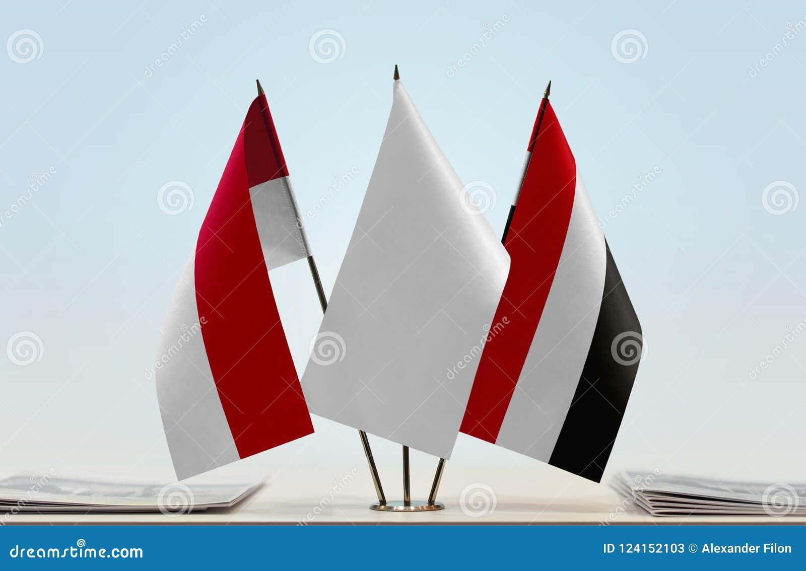 Flags of Monaco and Yemen
