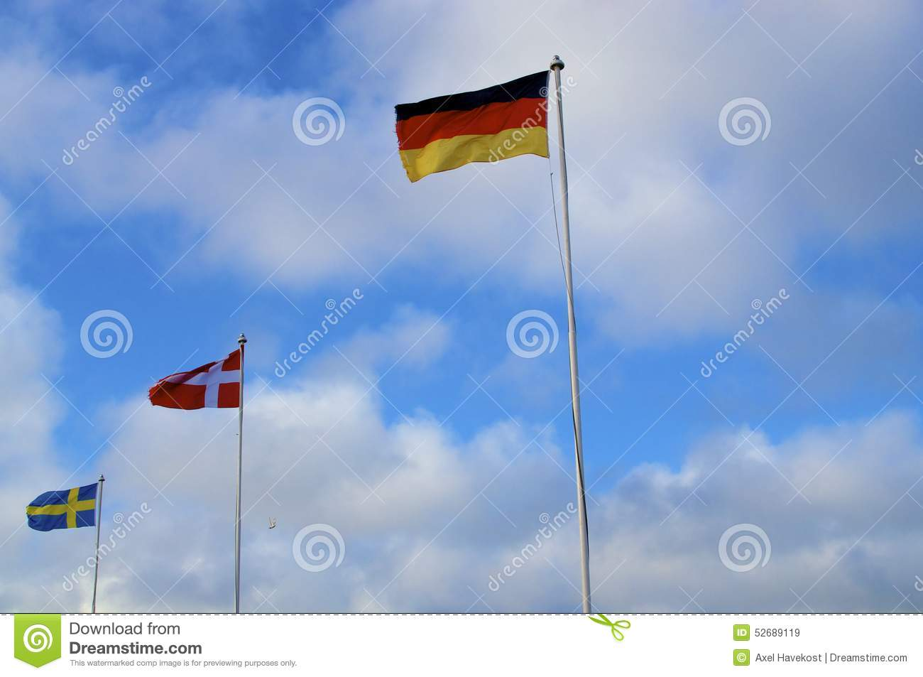 Flags of northern countries stock photo image 52689119