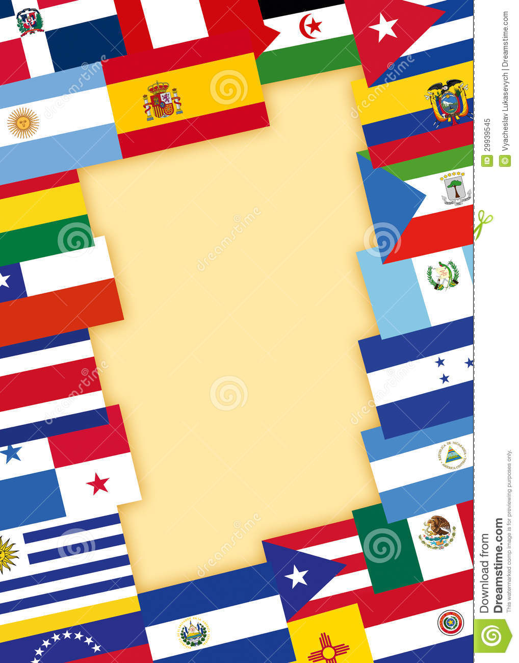 Spanish Speaking Countries Flags Royalty Free Stock Photo - Image ...