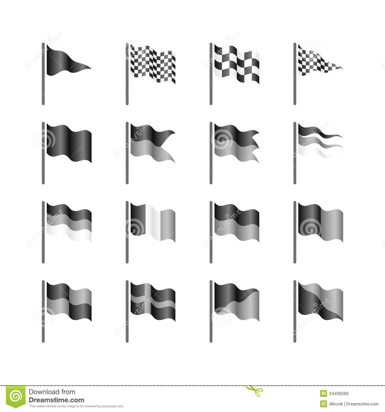 Flags Template Royalty Free Stock Images Image 34499269