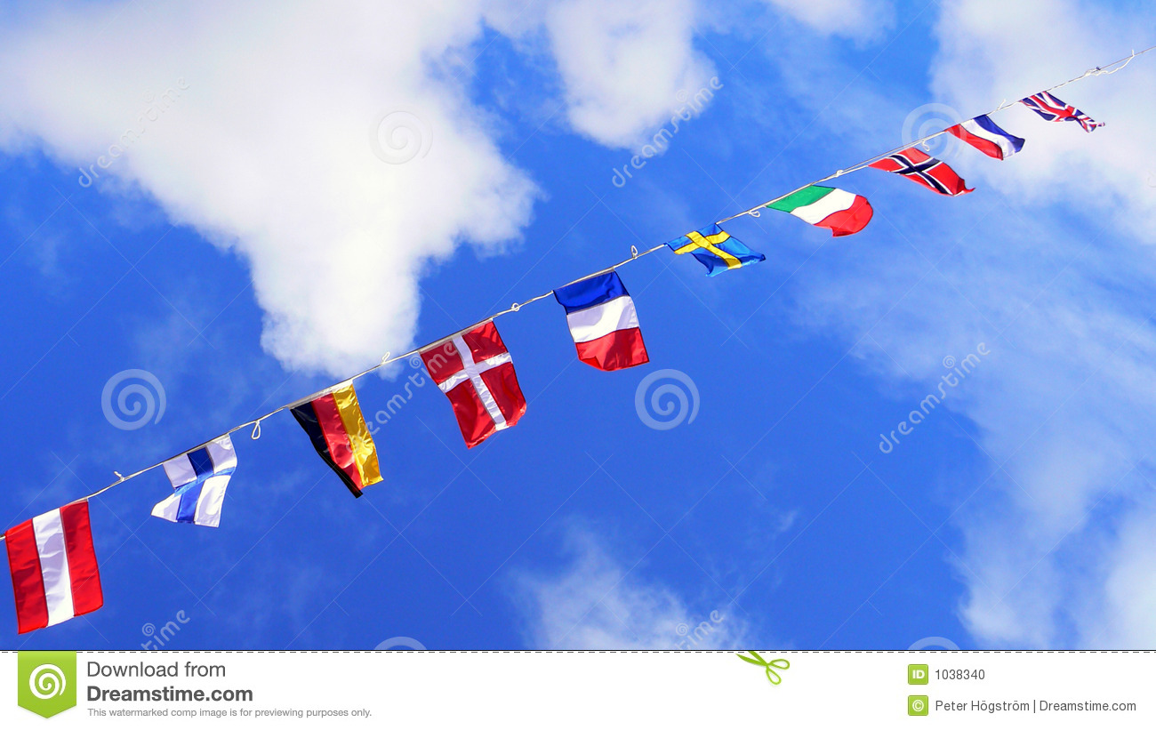 Flags, United Colors Of The World Stock Photo - Image: 1038340