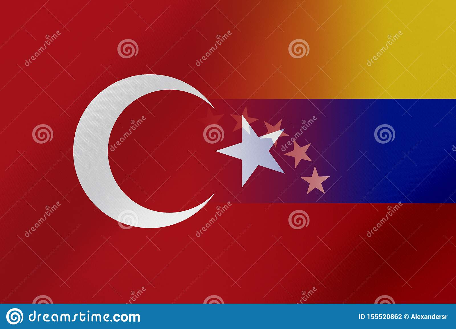 Flags Of Venezuela And Turkey That Come Together Showing A ...