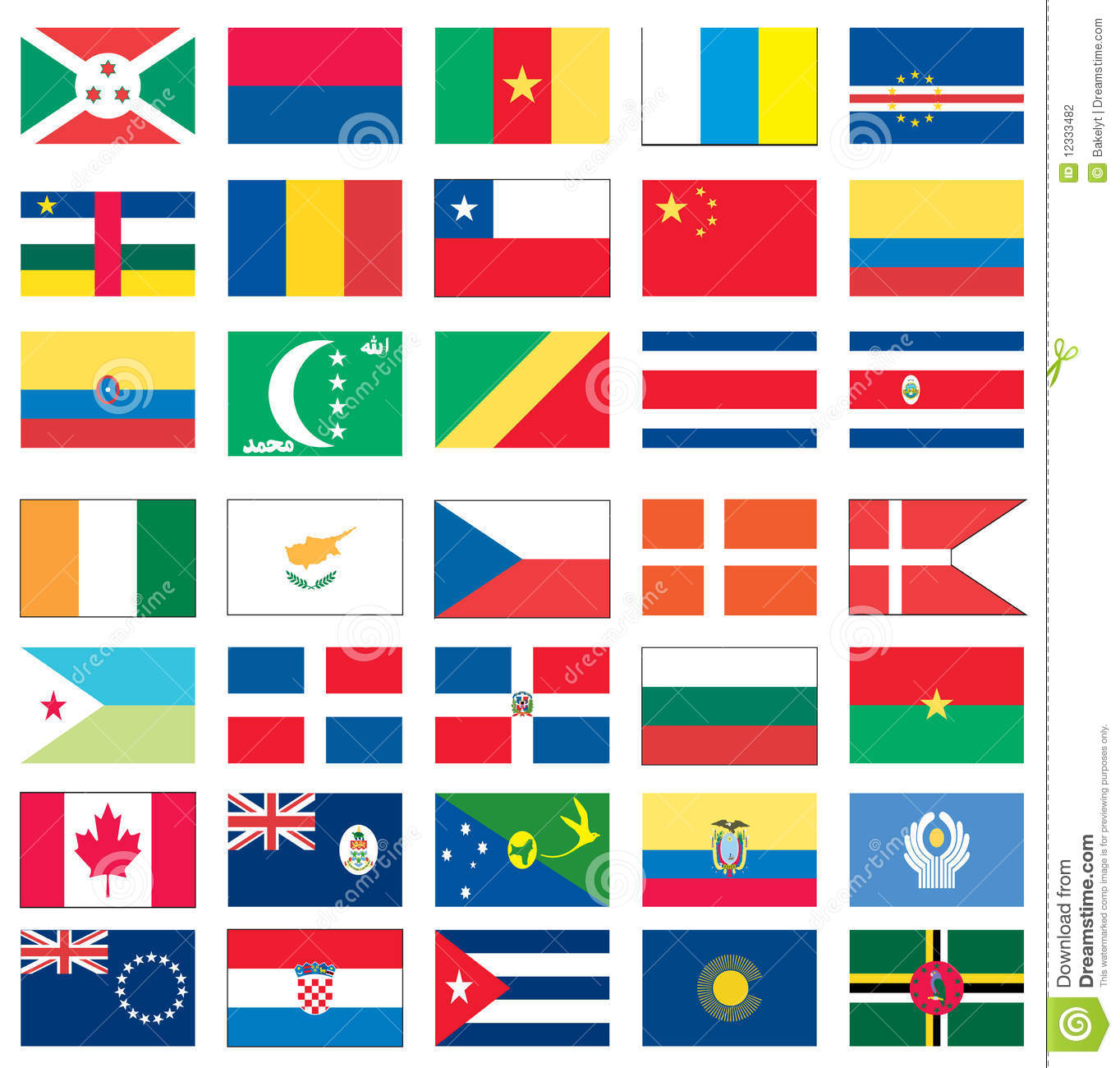 flags of the world 4 of 8 stock vector illustration of earth 12333493