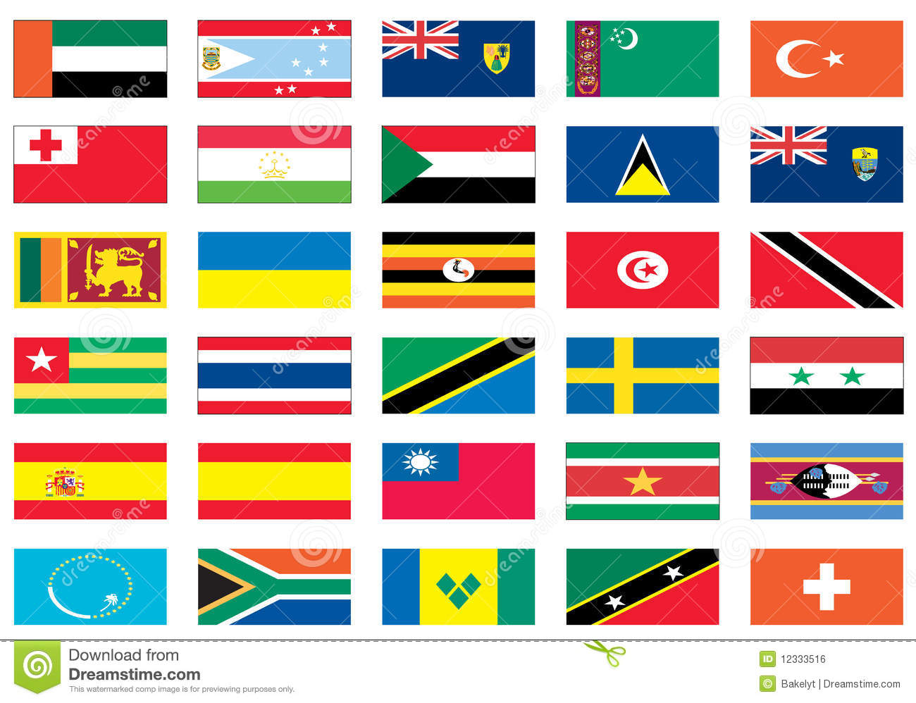 Flags Of The World 7 Of 8 Royalty Free Stock Image - Image ...