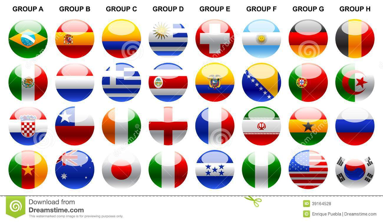 Flags world cup 2014 World Cup 2014 Vector