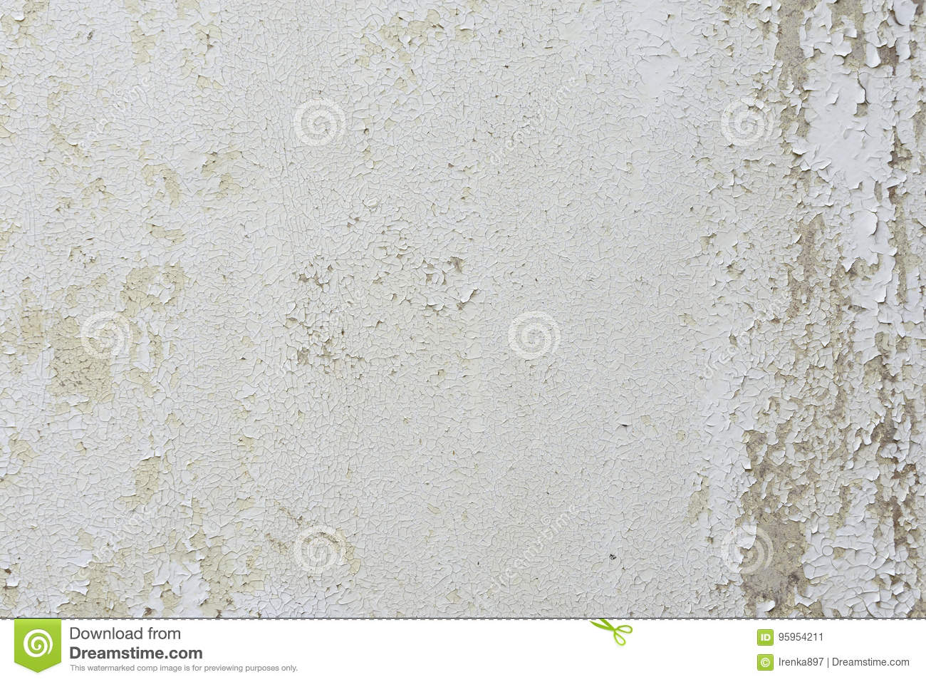Flaking paint on a wall.