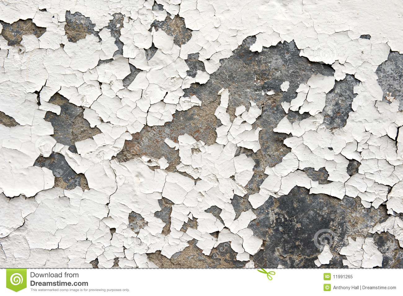 Flaking White Paint On Wall Royalty Free Stock Photo