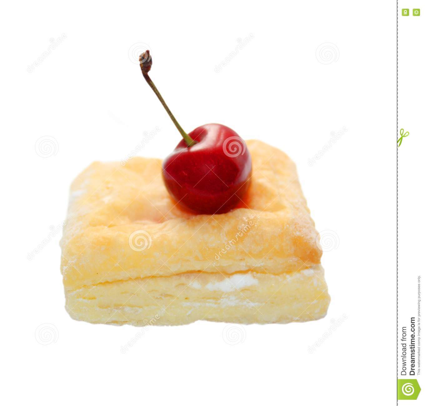 Flaky Cookie With Cherry Jam Royalty Free Stock Photography - Image ...