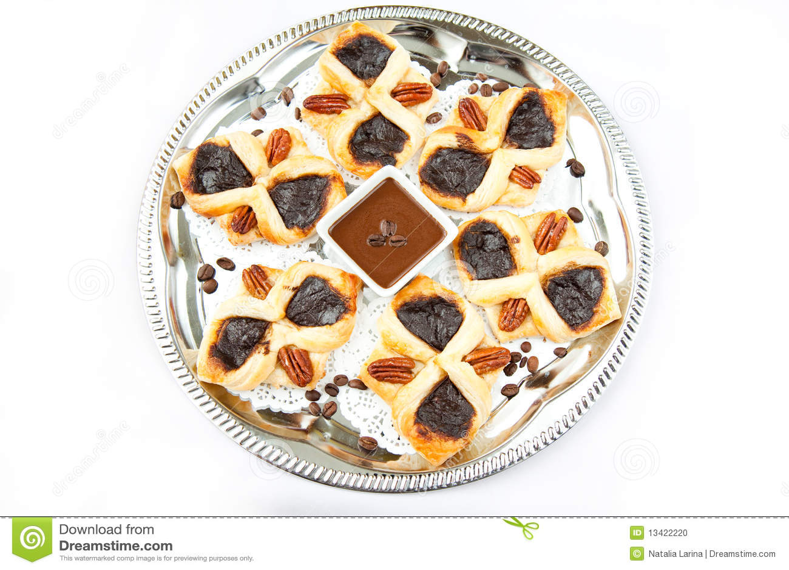 Flaky Croissant Stock Photo - Image: 13422220