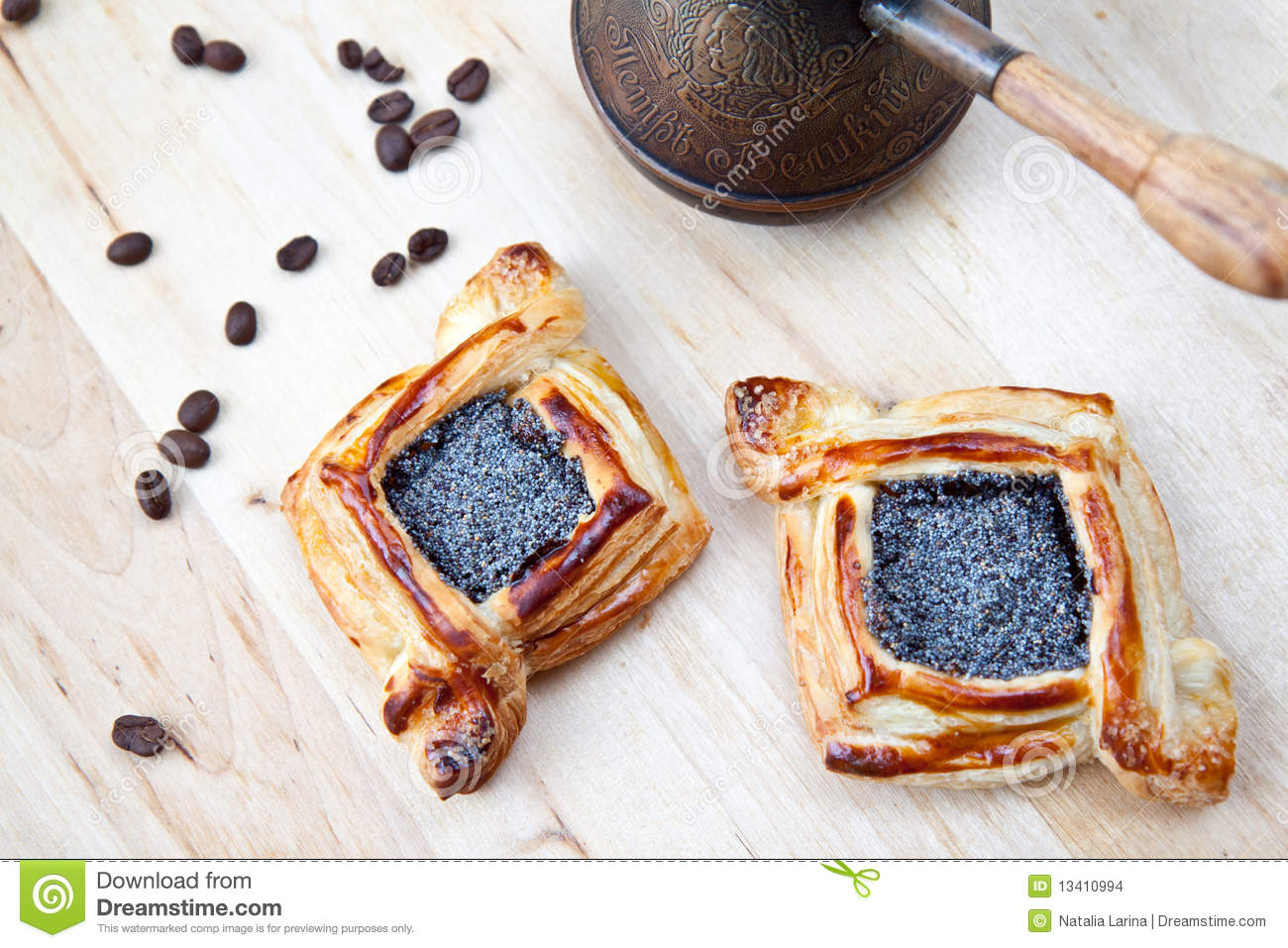 Flaky Croissant With Coffee Stock Images - Image: 13410994