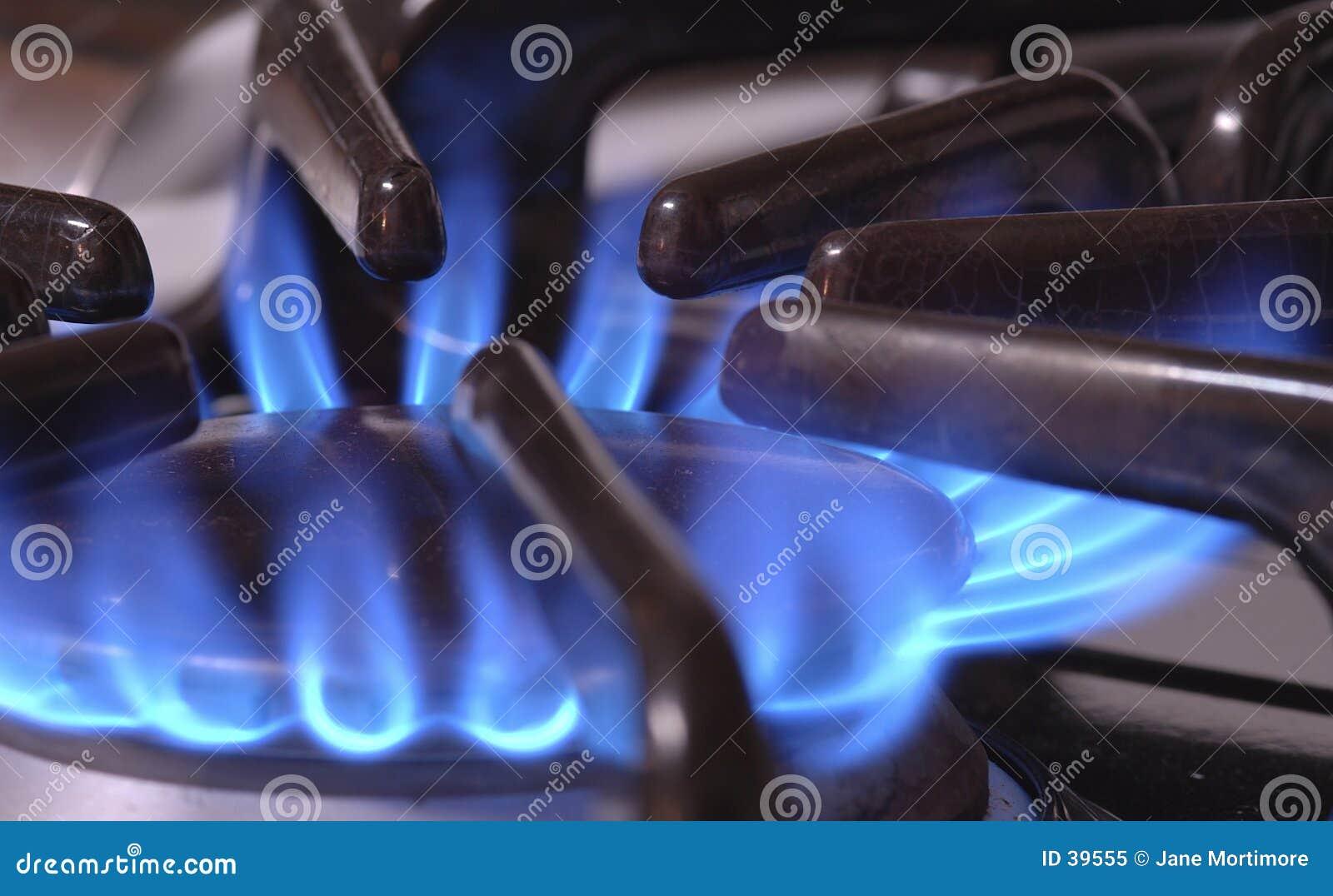 Flama azul