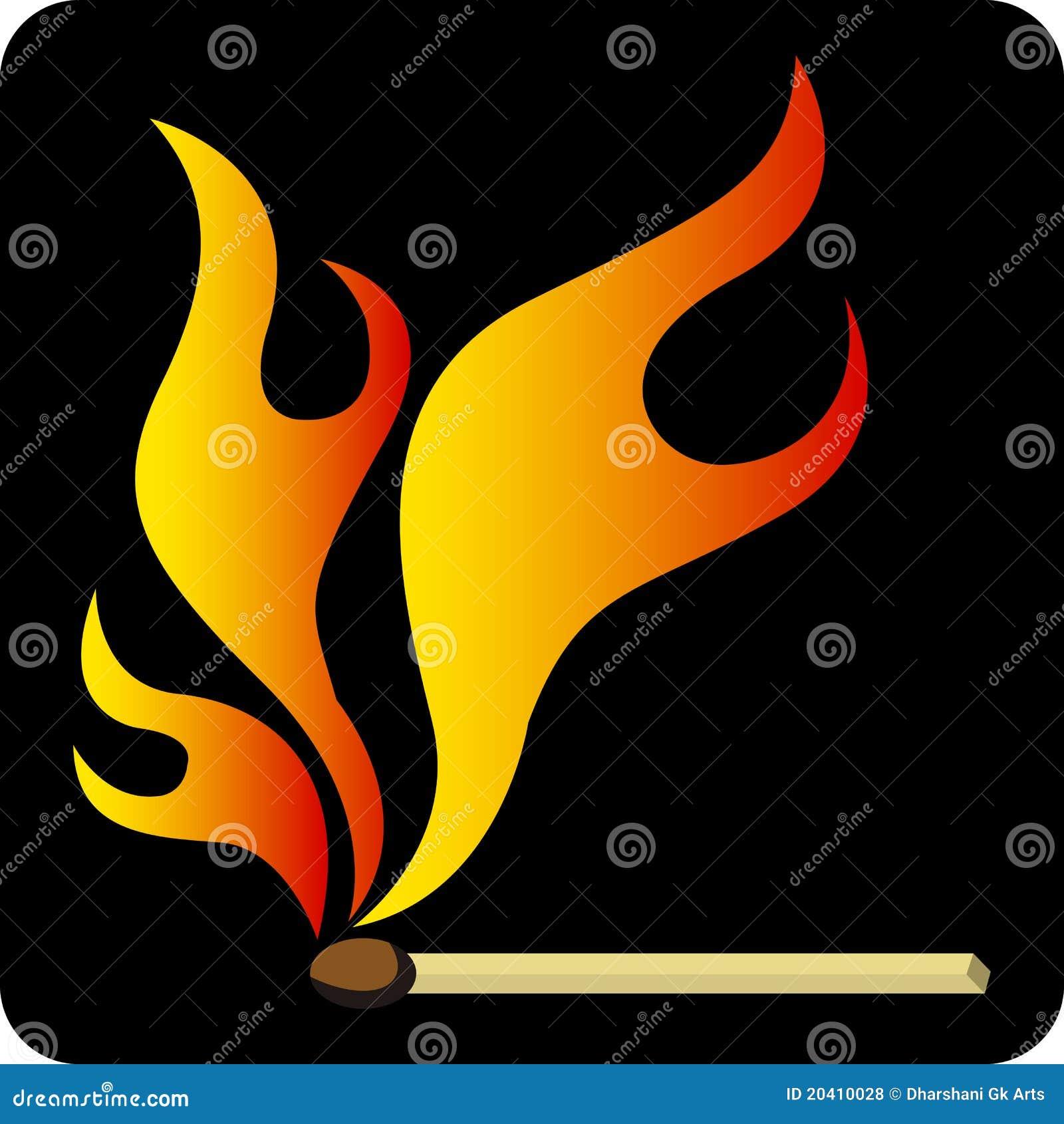 Flama da vara do fósforo