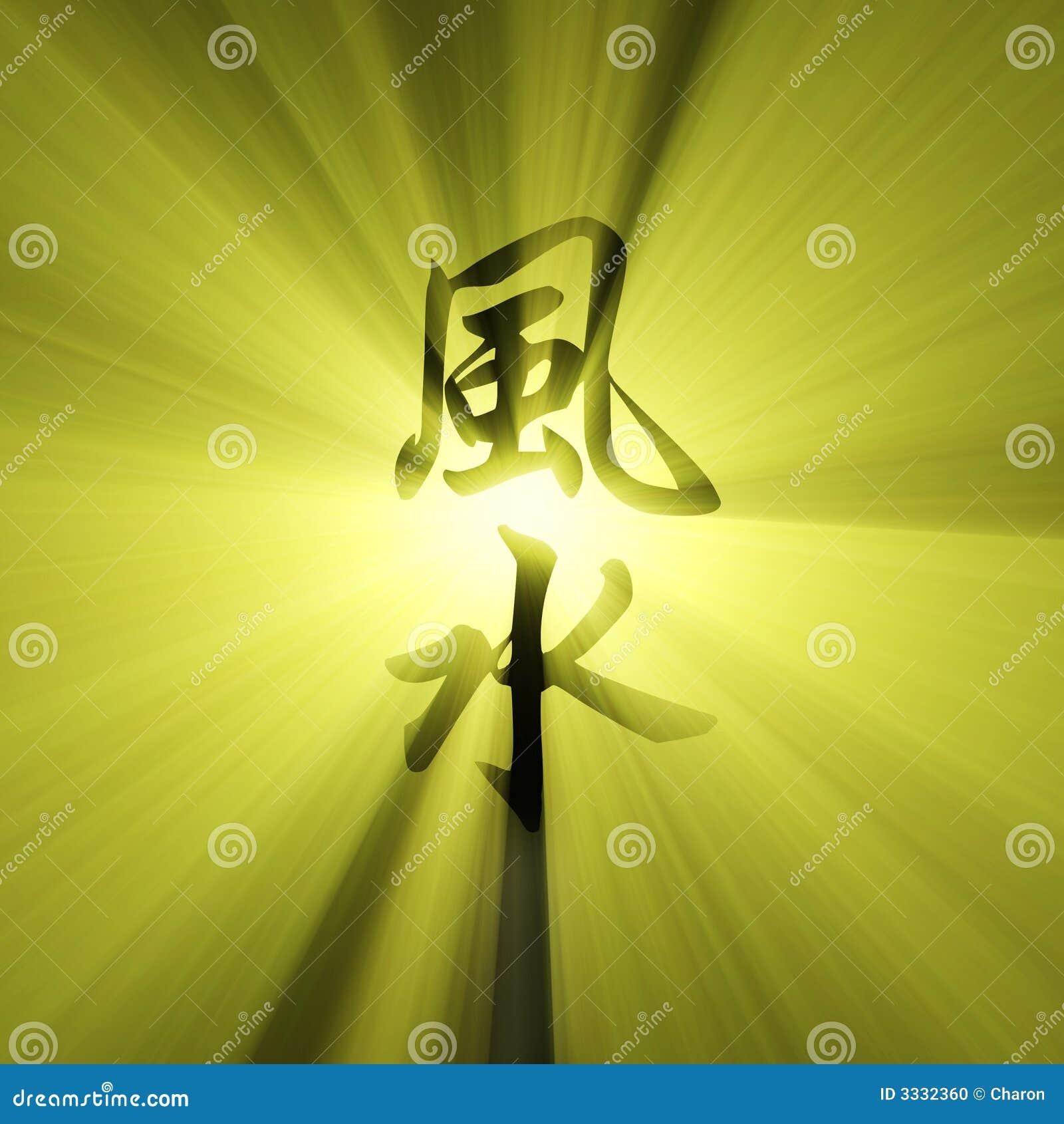 Flama del sol de los caracteres del shui de Feng