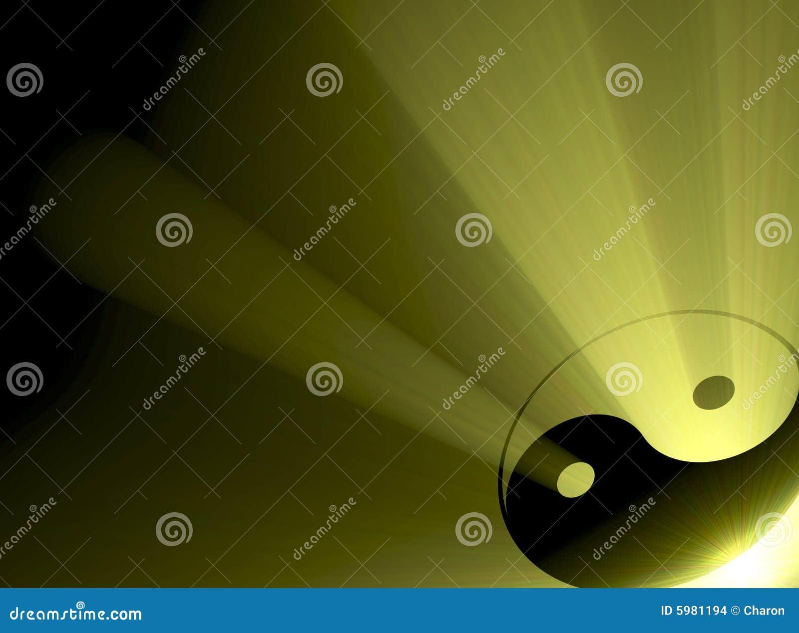 Flama del sol del símbolo de Yin Yang