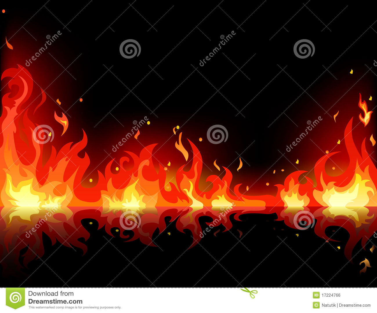 Flama do incêndio