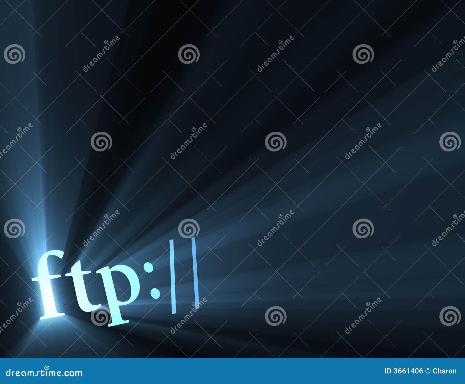Flama hiperactiva de la luz de la conexión del ftp