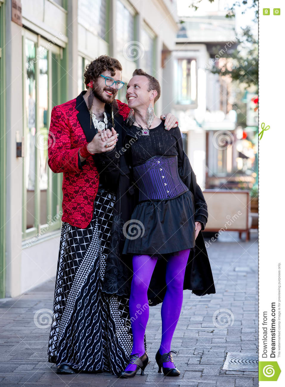 859a6bd32ac Flamboyant Young Gender Fluid Men Stock Image - Image of masculine ...