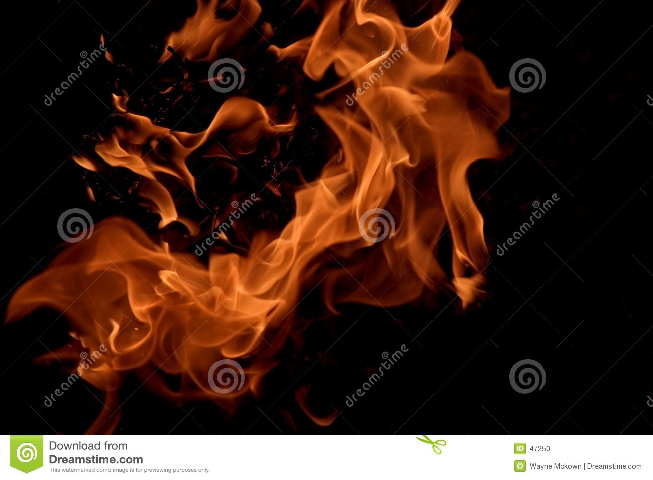 Download Flame #3 stock photo. Image of fiery, background, campfire - 47250
