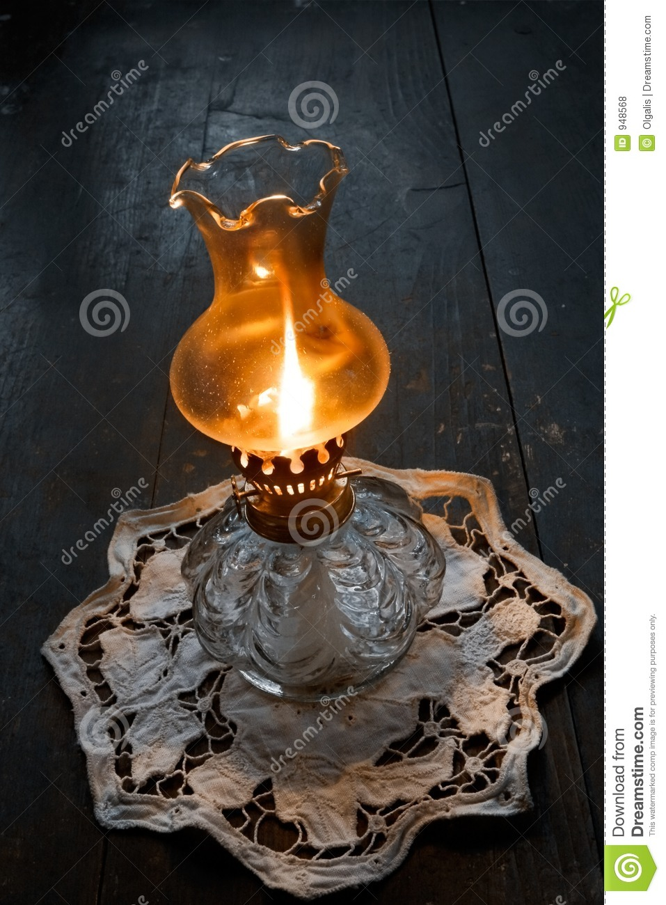 Flame Of An Ancient Oil Lamp Royalty Free Stock Photos Image 948568